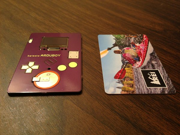 Визитная карточка и тетрис ArduBoy