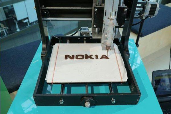 nokia 3D-печатный шоколад