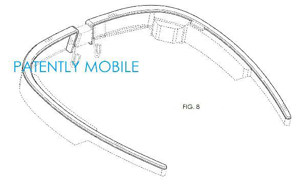 GoogleGlass патент на новый дизайн